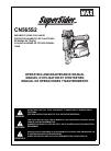 Max SuperSider CN565S2 Operating and maintenance manual