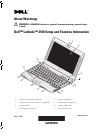 Dell Latitude 2100 Setup and features information
