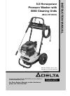 Delta DTH2450 Instruction manual