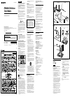Sony ICF-CDK50 Operating instructions