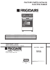 Frigidaire FEF322BA Factory parts catalog