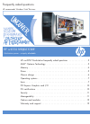 HP xw4550 Workstation Frequently asked questions manual